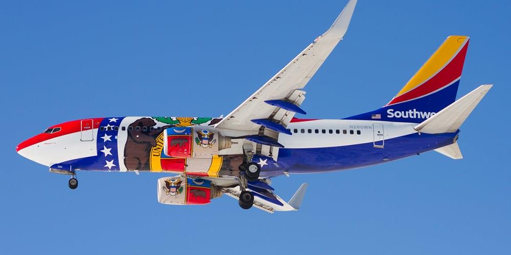 Soutwest top 10 airlines - par avion